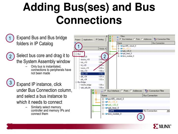 Adding Bus(ses) and Bus Connections