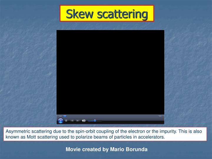 Skew scattering