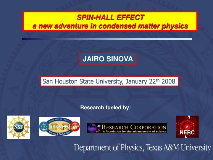 SPIN-HALL EFFECT