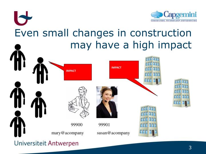 Even small changes in construction may have a high impact