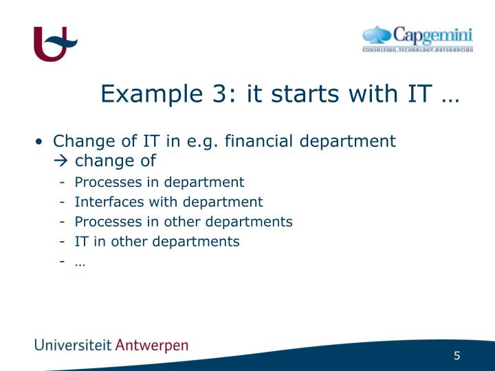 Example 3: it starts with IT …