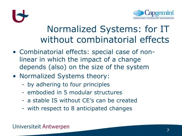 Normalized Systems: for IT