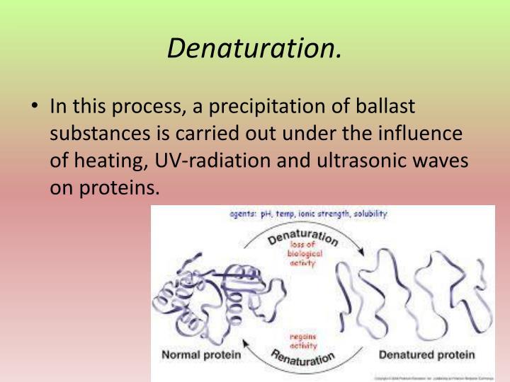 Denaturation.