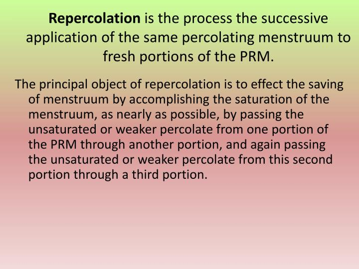 Repercolation