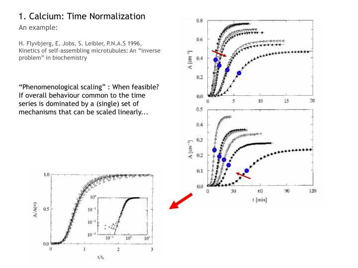 1. Calcium: Time Normalization