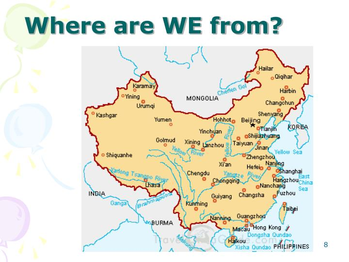 Where are WE from?