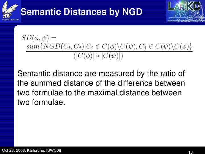 Semantic Distances