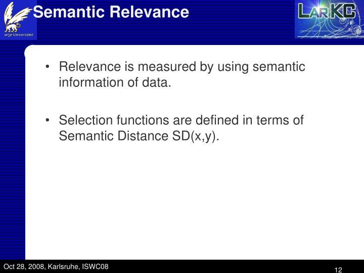 Semantic Relevance