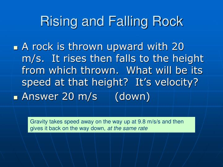 Rising and Falling Rock