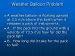 weather balloon problem