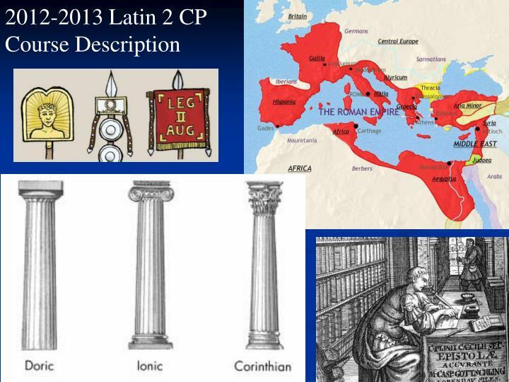 2012-2013 Latin 2 CP