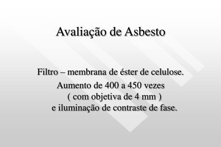 Avaliação de Asbesto