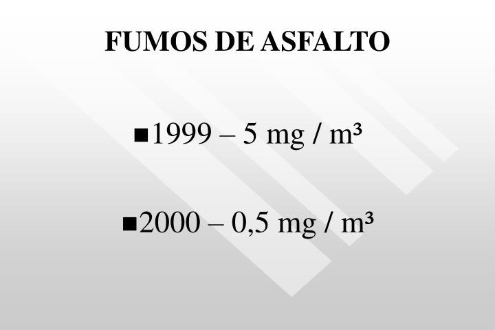 FUMOS DE ASFALTO