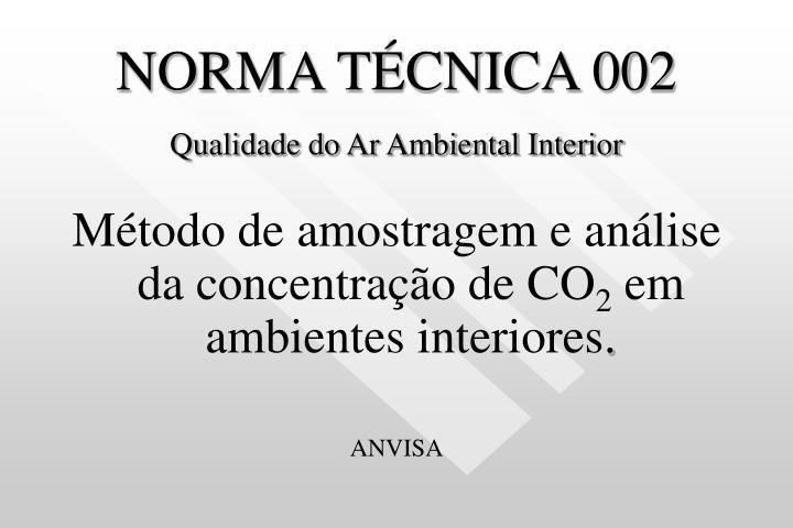 NORMA TÉCNICA 002