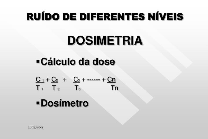 RUÍDO DE DIFERENTES NÍVEIS