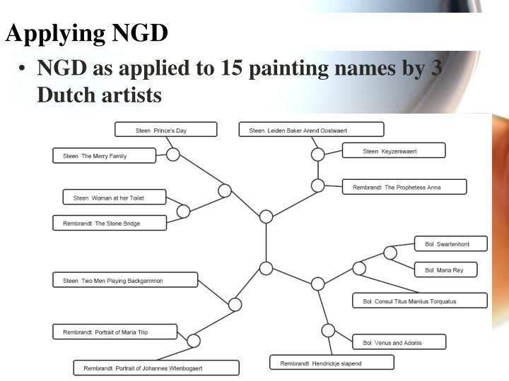 Applying NGD