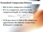 normalized compression distance