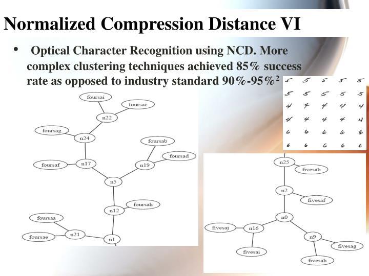 Normalized Compression Distance VI