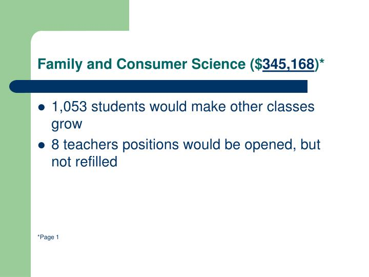 Family and Consumer Science ($