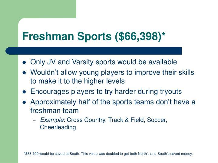 Freshman Sports ($66,398)*