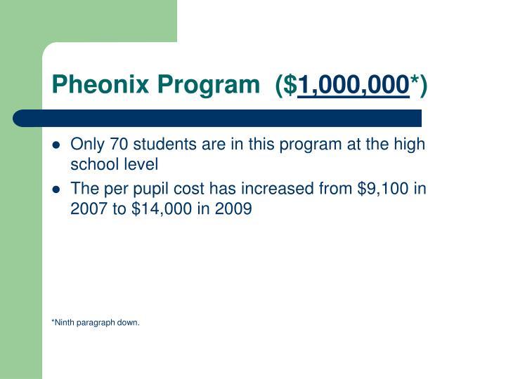 Pheonix Program  ($
