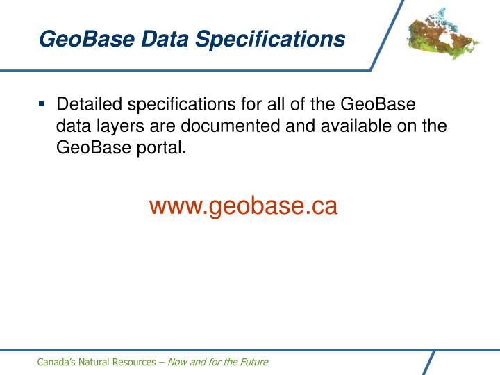 GeoBase Data Specifications
