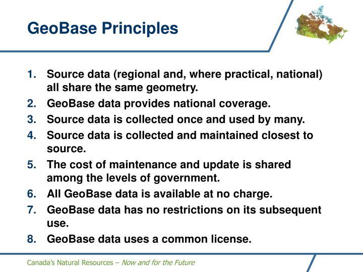 GeoBase Principles