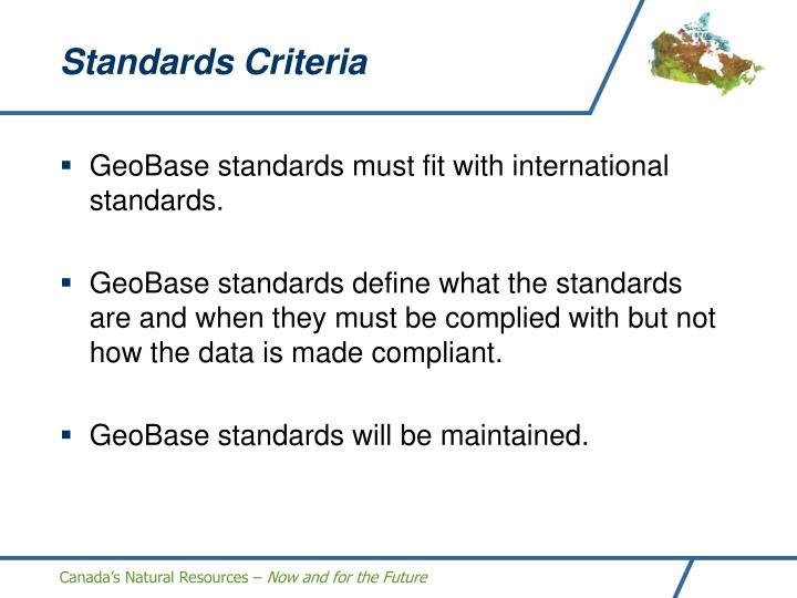 Standards Criteria