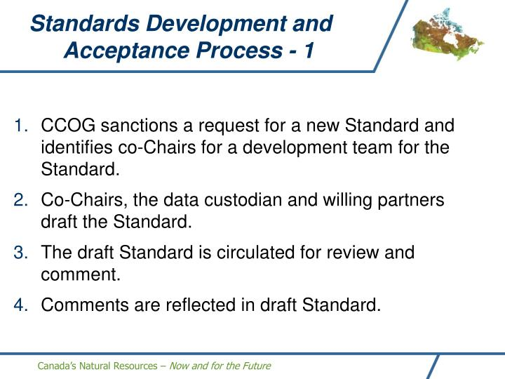 Standards Development and Acceptance Process - 1