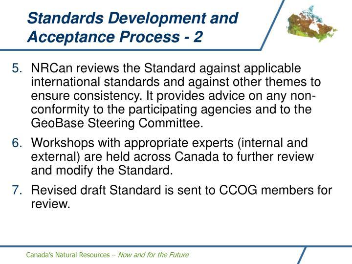 Standards Development and Acceptance Process - 2