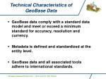 technical characteristics of geobase data