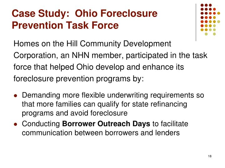 Case Study:  Ohio Foreclosure Prevention Task Force