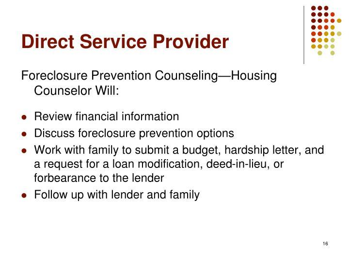 Direct Service Provider