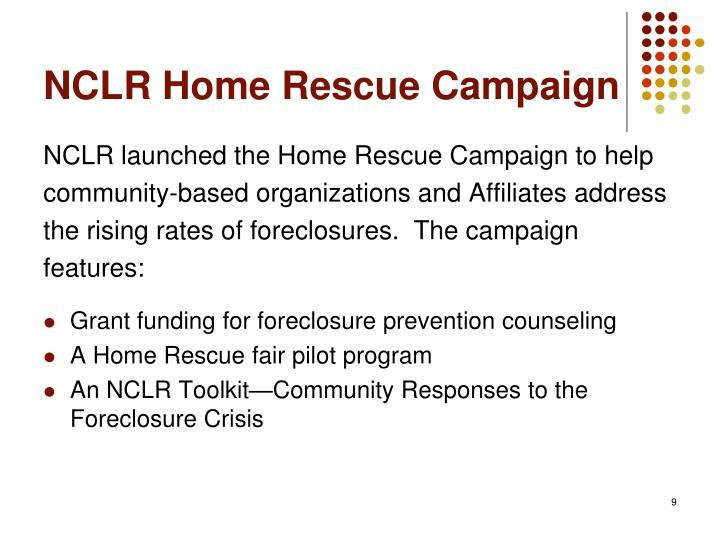 NCLR Home Rescue Campaign
