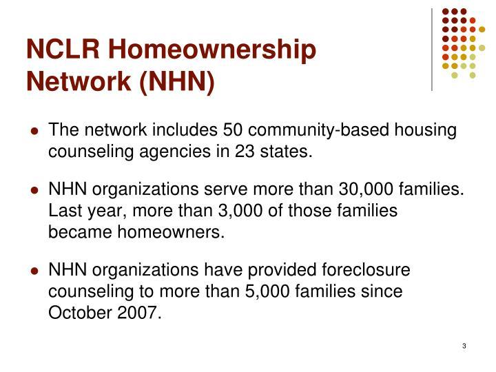 NCLR Homeownership Network (NHN)