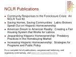 nclr publications