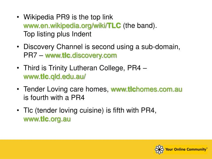 Wikipedia PR9 is the top link