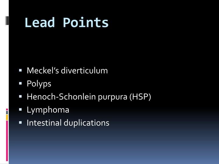 Lead Points