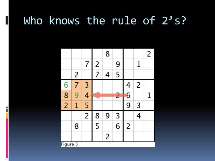Who knows the rule of 2's?