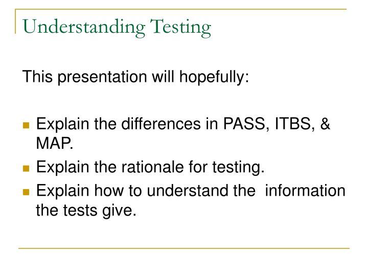 Understanding Testing