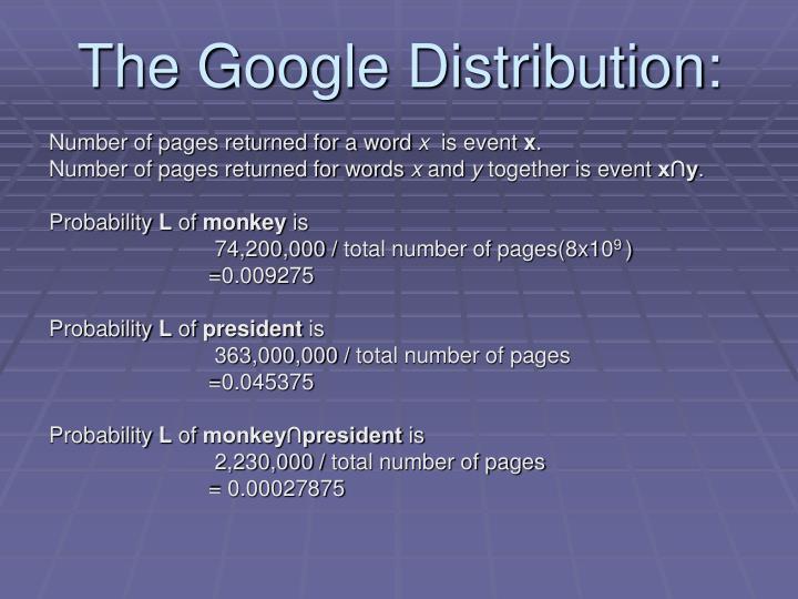 The Google Distribution: