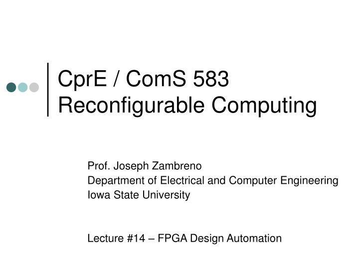 CprE / ComS 583