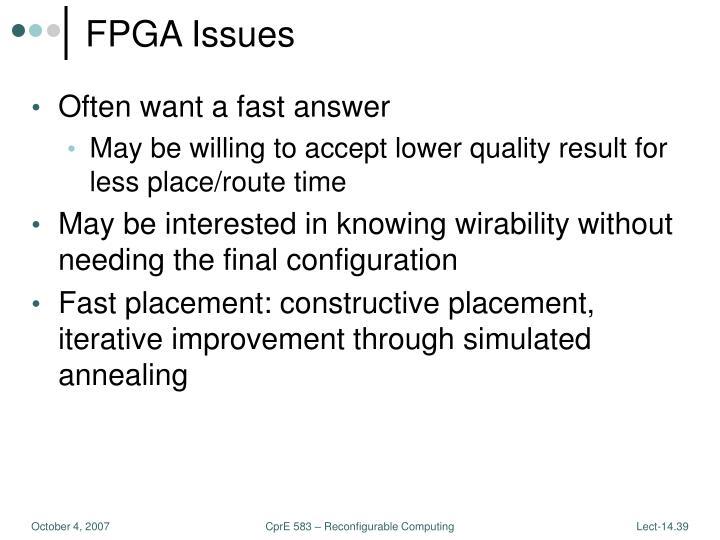 FPGA Issues