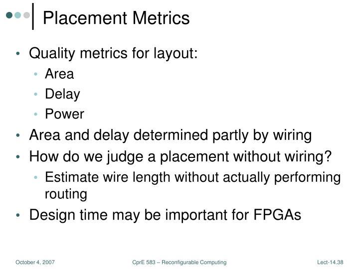 Placement Metrics
