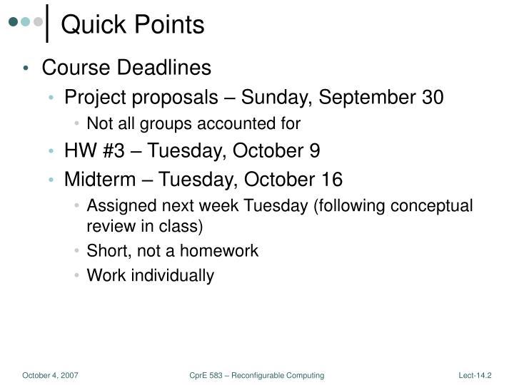 Quick Points