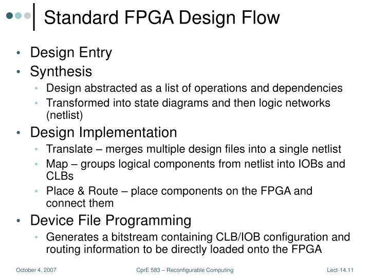 Standard FPGA Design Flow