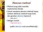 abstract method