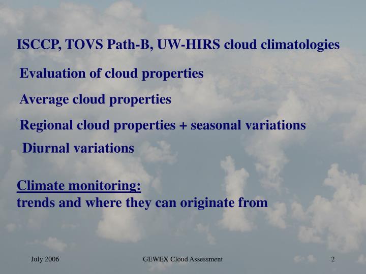 Average cloud properties