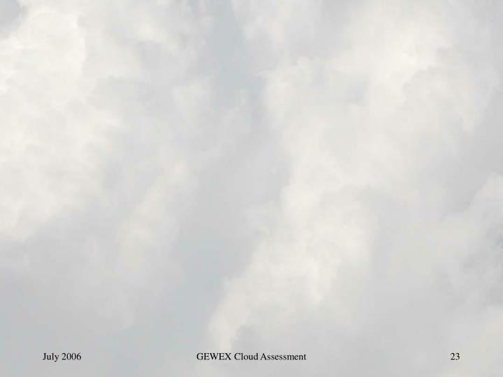 GEWEX Cloud Assessment