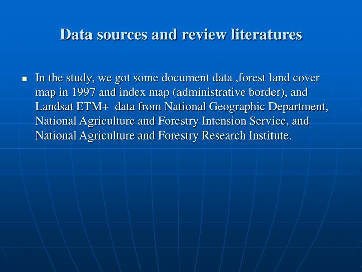 Data sources and review literatures